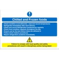 Catering Sign Chilled And Frozen Vinyl 15 x 20 cm