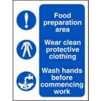 Catering Sign Food Preparation Vinyl 20 x 15 cm