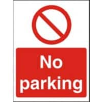Prohibition Sign No Parking Vinyl 30 x 20 cm
