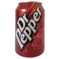 Coca-Cola Dr Pepper Soft Drink Can 330ml 24 Pieces