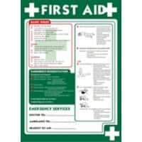 Health & Safety Poster First Aid Polypropylene 42 x 59.4 cm