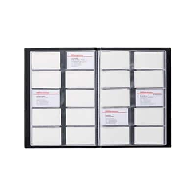 Office Depot Business Card Holder A4 400 Cards Black 23 x 0.3 x 31 cm