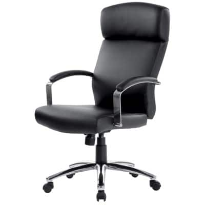 Realspace Executive Chair Akris Permanent Contact Black