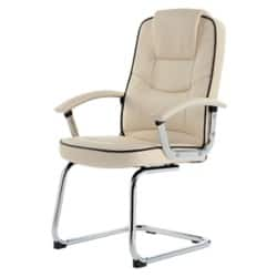 RS Soho Rome2 leather-faced visitor chair in cream