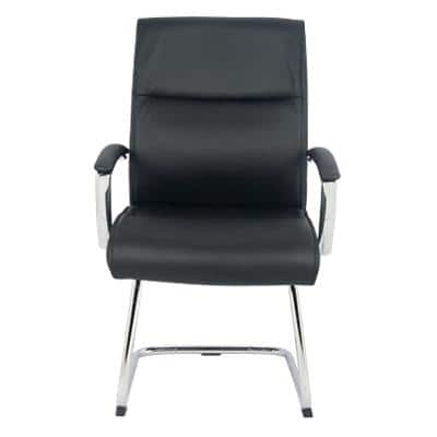Realspace Visitor Chair with Armrest Lima Black