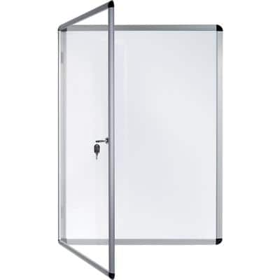 Bi-Office Lockable Noticeboard White 72 x 98.1 cm