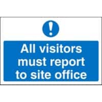 Mandatory Sign Visitors Report To Office Fluted Board 30 x 40 cm