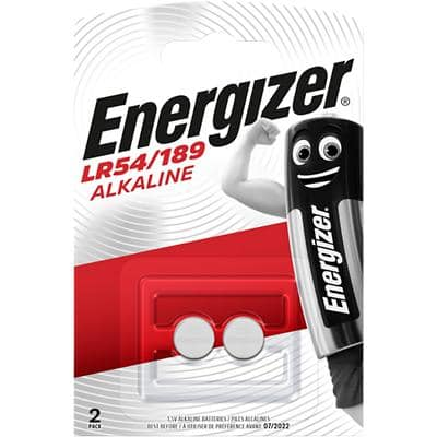 Energizer Button Cell Batteries LR54 1.5V Alkaline 2 Pieces