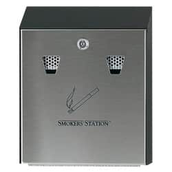 Rubbermaid Cigarette Bin R1012EB Silver