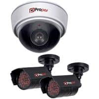 Proper 1 x Dome Camera 2 x IR Cameras Imitation Security Camera Kit P-SIK1D2C-1 Indoor and Outdoor