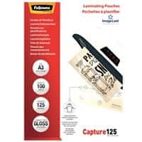Fellowes Laminating Pouches Glossy 2 x 125 (250 Micron) A3 Pack of 100