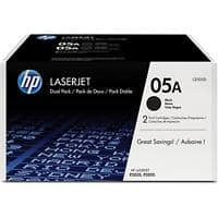 HP 05A Original Toner Cartridge CE505D Black 2 Pieces
