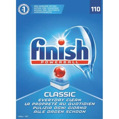 Finish Dishwasher Tablets Fragrance Free 110 Pieces
