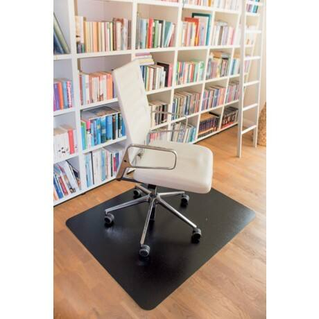 clear style' Chair Mat Rectangular Black 120 x 150 cm