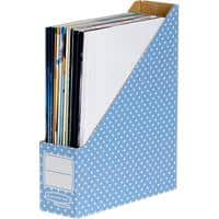 Bankers Box Style Magazine File Blue 311 (H) x 258 (D) x 78 (W) mm Pack of 10