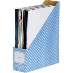 Fellowes Magazine File Style cardboard Blue, White 26.3 x 8.1 x 31.6 cm 10 pieces