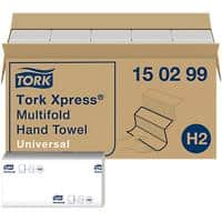 Tork Folded Hand Towels H2 Xpress Universal 2 Ply M-fold White 237 Sheets Pack of 20
