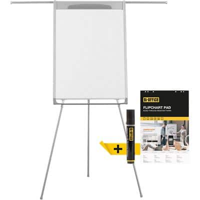 Bi-Office Freestanding Tripod Easel with Adjustable Height Mastervision 70 x 100cm Shiny Dark Grey