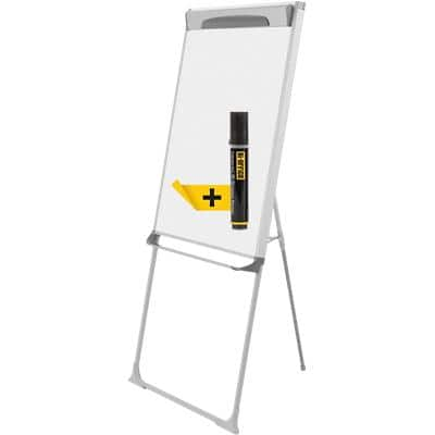 Bi-Office Freestanding Footbar Easel with Adjustable Height Mastervision 70 x 100 cm Shiny Dark Grey