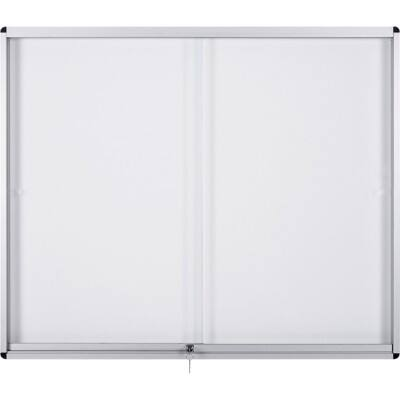 Bi-Office Display Case Exhibit Magnetic White 66.1 x 92.6 x 7.5 cm