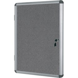 Bi-Office Display Case Enclore Indoor Felt Grey 98.1 x 72 x 3.5 cm
