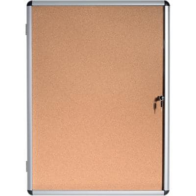 Bi-Office Lockable Noticeboard Brown 72 x 98.1 cm