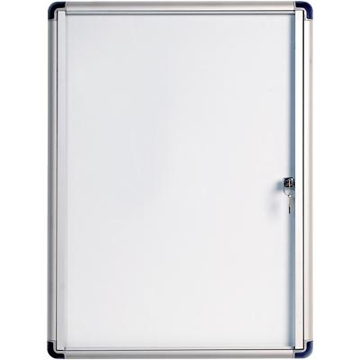 Bi-Office Wall Mountable Lockable Noticeboard Enclore Budget 49 x 66.4 cm White