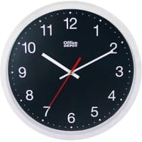 Office Depot Clock RD3330W 31.5 x 5 cm White