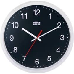 Office Depot Wall Clock RD3330W White