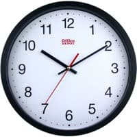 Office Depot Clock RD3330B 31.5 x 5 cm White