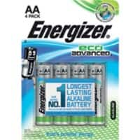 Energizer Batteries Eco Advanced AA 4 pieces
