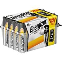 Energizer AA Alkaline Batteries Power LR6 1.5V Pack of 24