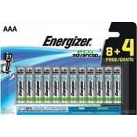 Energizer Batteries Eco Advanced AAA 12 batteries 12 batteries