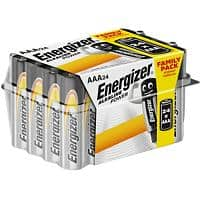 Energizer AAA Alkaline Batteries Power LR03 1.5V Pack of 24