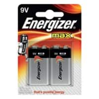 Energizer Batteries Max 9V 2 pieces