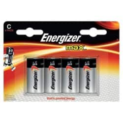 Energizer Batteries Max C 4 Pieces