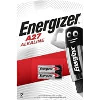 Energizer Batteries Alkaline A27 2 Pieces
