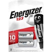 Energizer Batteries Lithium CR123A 2 batteries