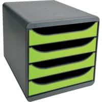 Exacompta Drawer Unit Big-Box Polystyrene Grey, Green 27.8 x 34.7 x 26.7 cm
