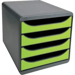 Exacompta Drawer Unit Big-Box polystyrene Grey, Green 26.7 x 27.8 x 34.7 cm