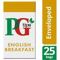 PG tips English Breakfast Tea Bags Pack of 25