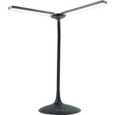 Alba Freestanding Twin Desk Lamp LEDTWIN N Black