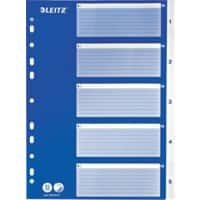 Leitz Numerical Dividers 1-5 A4 Blue 5 tabs universal polypropylene 1 to 5