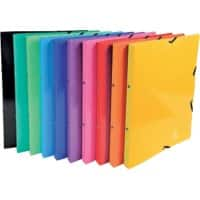 Exacompta Ring Binder 20 mm Glossy Pressboard 2 ring A4 Assorted 20 Pieces