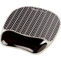 Fellowes Mouse Pad Wrist Support Photo Gel Chevron