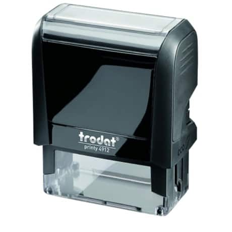 Trodat Custom Text Stamp 4912 Black plastic