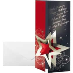 Sigel Christmas Card DS012 DL 220gsm Black, Red 10 pieces