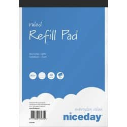 Niceday Refill Pads White Ruled perforated A5+ 22 x 14.8 cm 5 pieces of 80 sheets