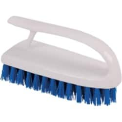 Hand Scrubbing Brush White With Blue Bristles Washable