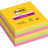 Post-it Super Sticky Notes 101 x 101 mm Assorted 6 Pieces of 90 Sheets